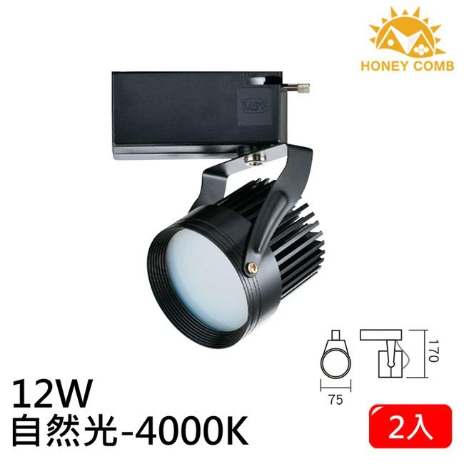 HONEY COMB LED 12W 防眩軌道式燈具 2入一組TK6205-4 自然光