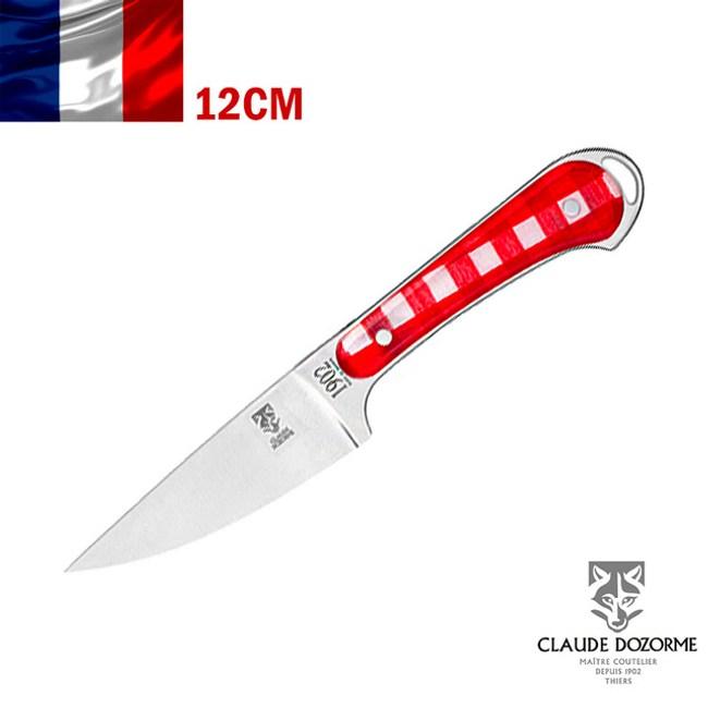 【Claude Dozorme】Vichy紅方格織布系列-蔬菜刀(12