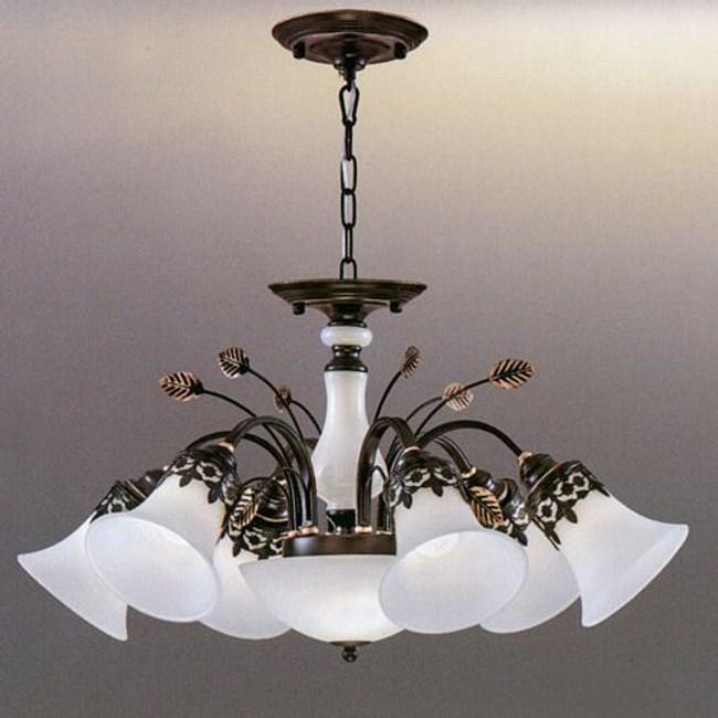 YPHOME 金屬玻璃吊燈六燈 S80934H