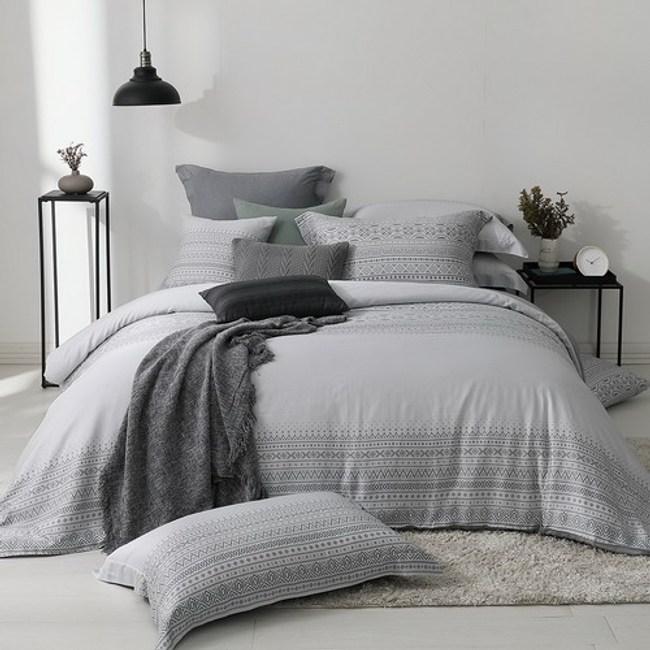 MONTAGUT-城市印記300織紗萊賽爾纖維天絲被套床包組(雙人)