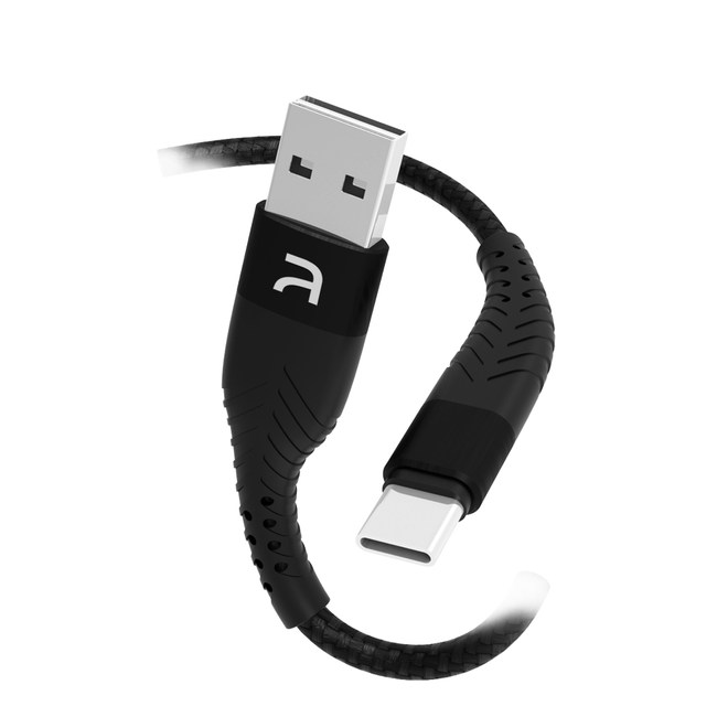 Atake USB to TypeC 雙面盲插充電傳輸線 混色