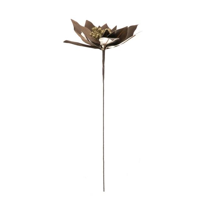 仿皮革聖誕花枝 古銅金 45.5cm