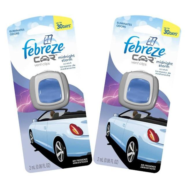美國Febreze 汽車排氣夾空氣清新劑(2ml)*6