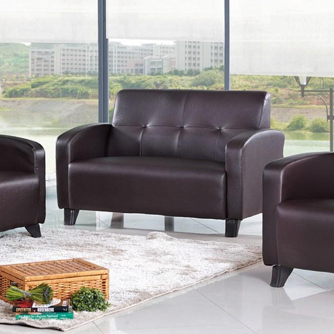 【YFS】勞德咖啡皮雙人沙發-130x79x84cm