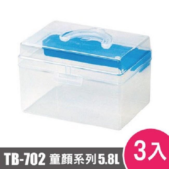 樹德SHUTER童顏系列手提箱702型TB-702 3入藍