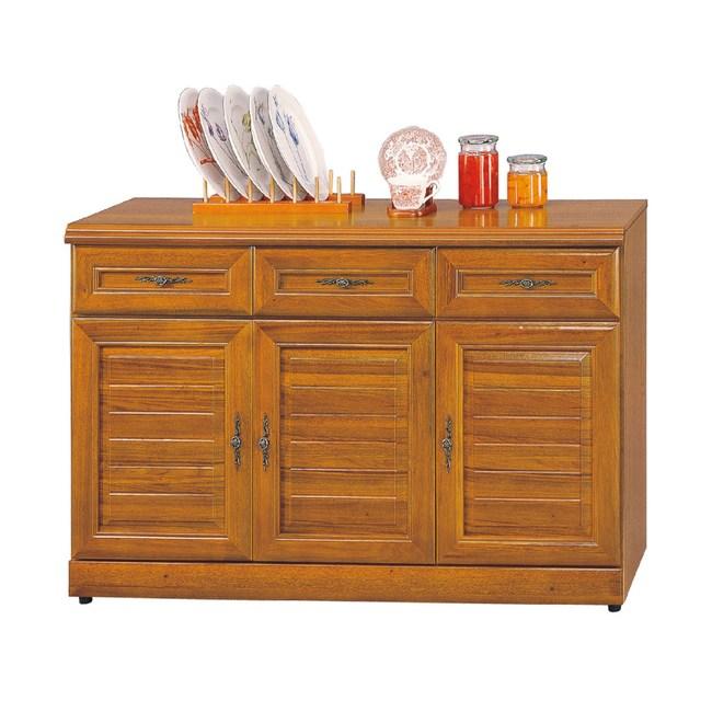 【YFS】維吉爾正樟木4尺碗盤櫃-120x42x81cm