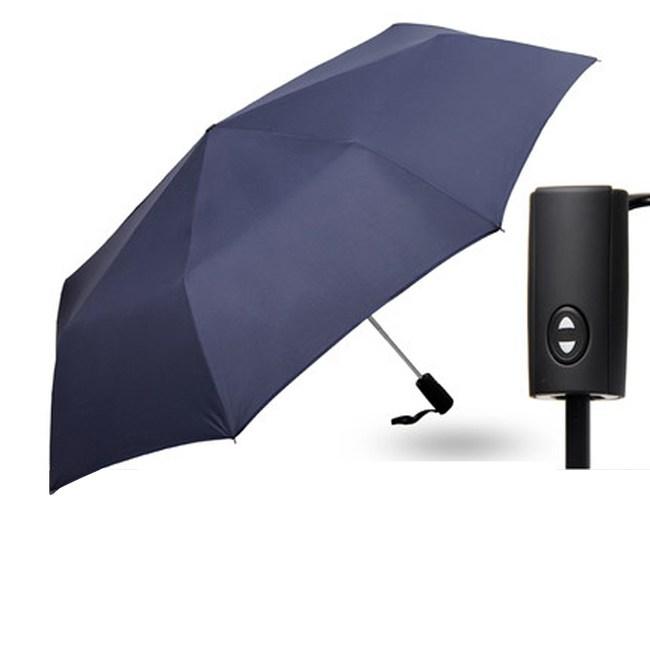 【PUSH! 好聚好傘】一鍵開收全自動傘 遮陽傘 折疊傘(酒紅色)I63-2
