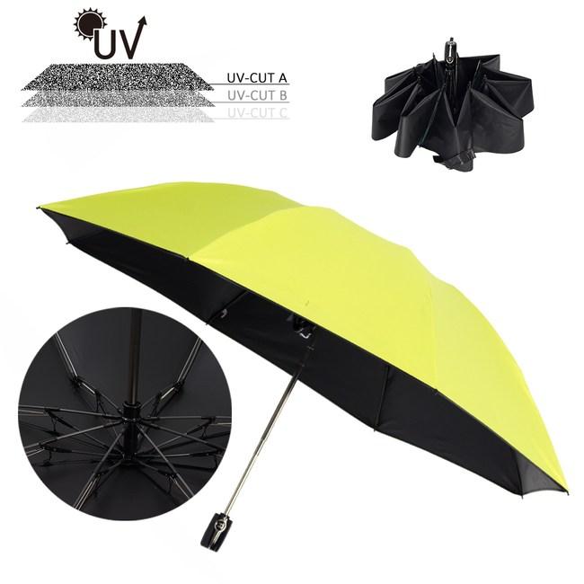 樂嫚妮 雙龍TDN 自動開收反向抗UV降溫黑膠傘-螢光綠反向黑膠傘-螢光綠