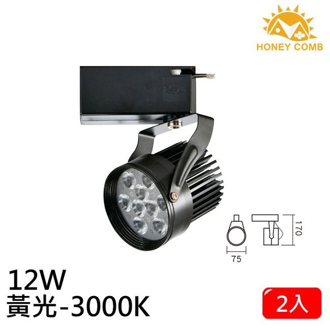 HONEY COMB LED 12W 軌道式燈具 2入一組TK6105-3 黃光