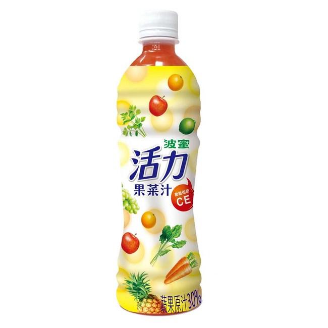 【波蜜】活力果菜汁x2箱(500gX24瓶/箱)2箱