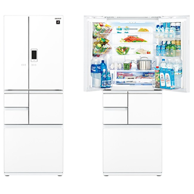 SHARP夏普 502公升6門變頻觸控對開冰箱SJ-GX50ET-W