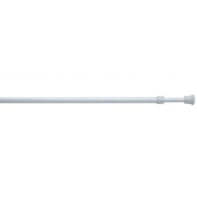 鐵製伸縮門簾桿70~120公分-白色