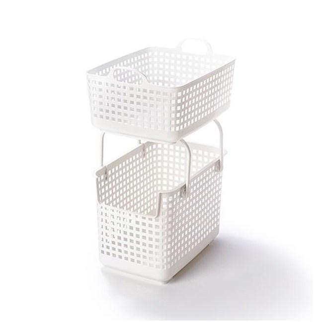 【日本Like it】北歐風可堆疊組合式收納洗衣籃(整組)-白色