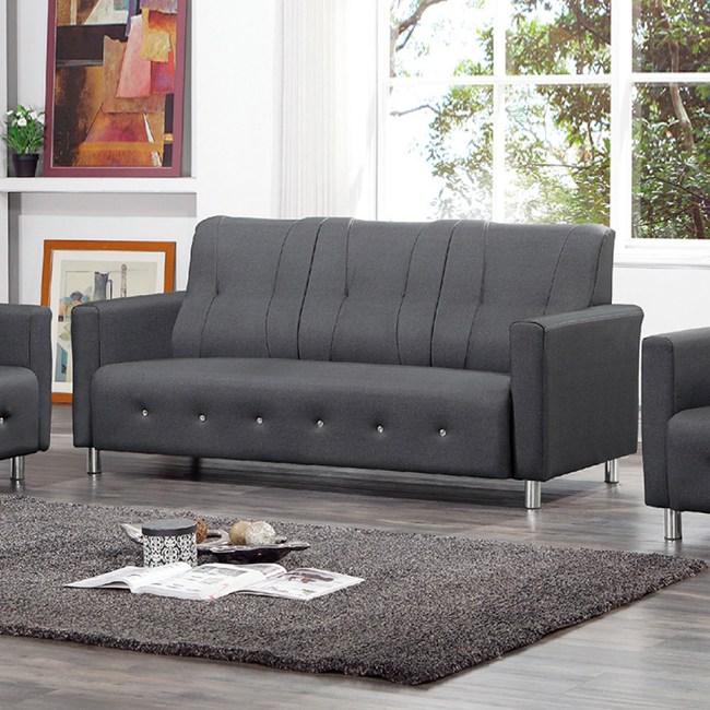 【YFS】奧斯頓灰色貓抓皮水鑽三人沙發-180x75x92cm