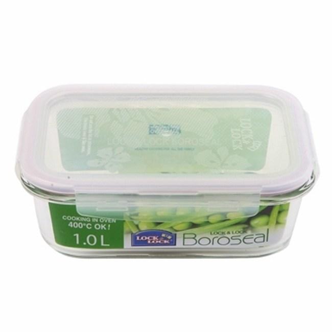 樂扣樂扣耐熱玻璃保鮮盒長方形1L