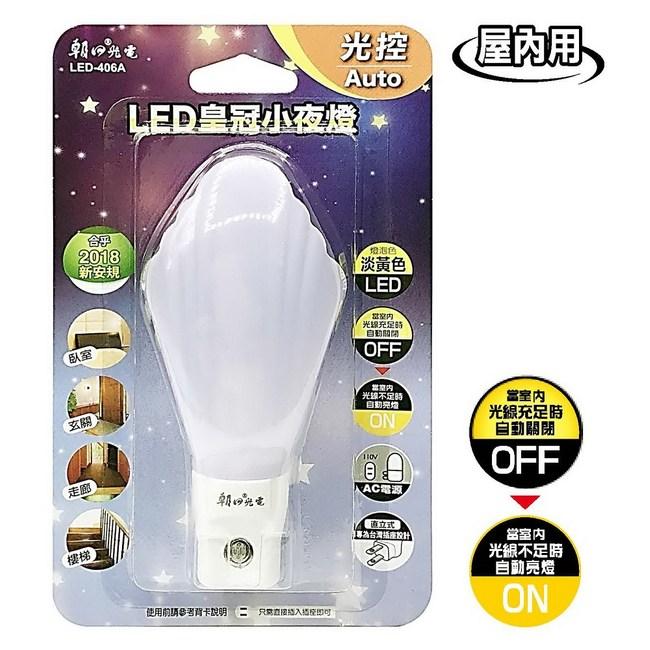 LED皇冠小夜燈(光控)