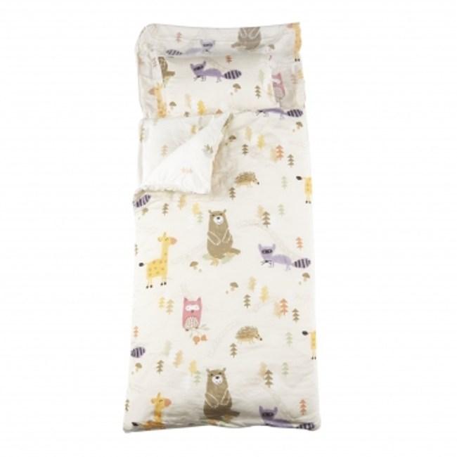 童趣森林木棉絲防蟎抗菌兒童睡袋