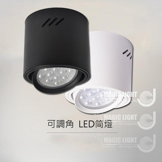 【光的魔法師 】5吋明裝筒燈 鋁反射罩 吸頂桶燈 可調角度聚光型18W白桶白光
