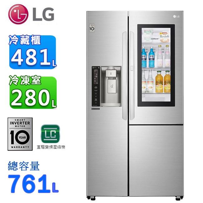 LG761公升InstaView™敲敲看門中門冰箱GR-QPL88SV
