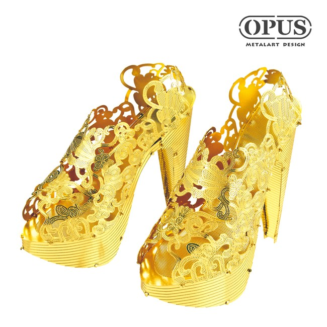 OPUS 3D立體金屬拼圖/DIY時尚女鞋/益智玩具(高跟鞋)
