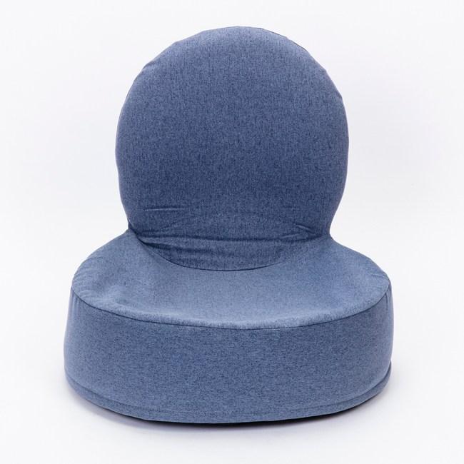 HOLA 仿麻漢堡和室椅 霧灰藍