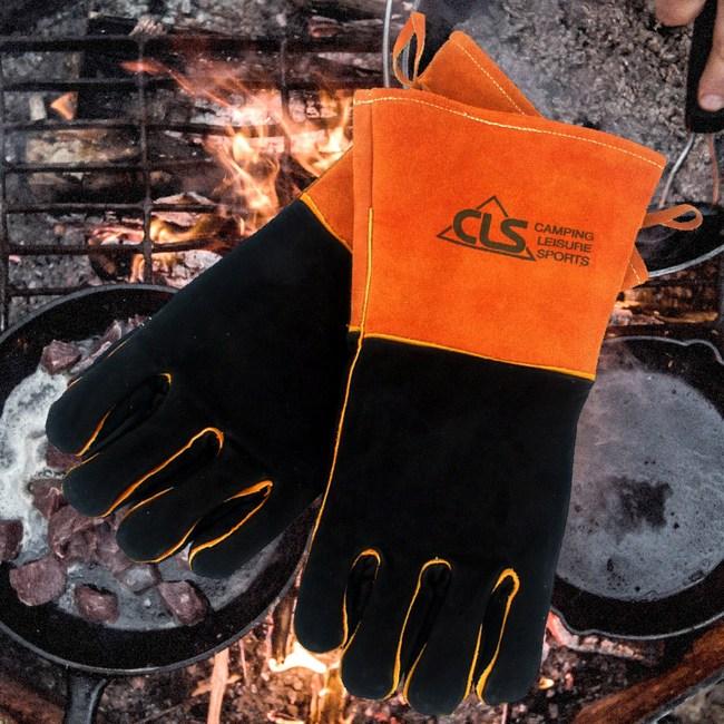 【韓國CLS】BBQ GLOVES 安全隔熱皮革手套