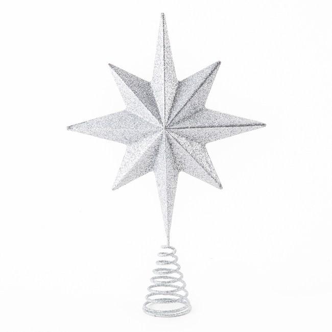 銀色八芒星樹頂星30.5cm