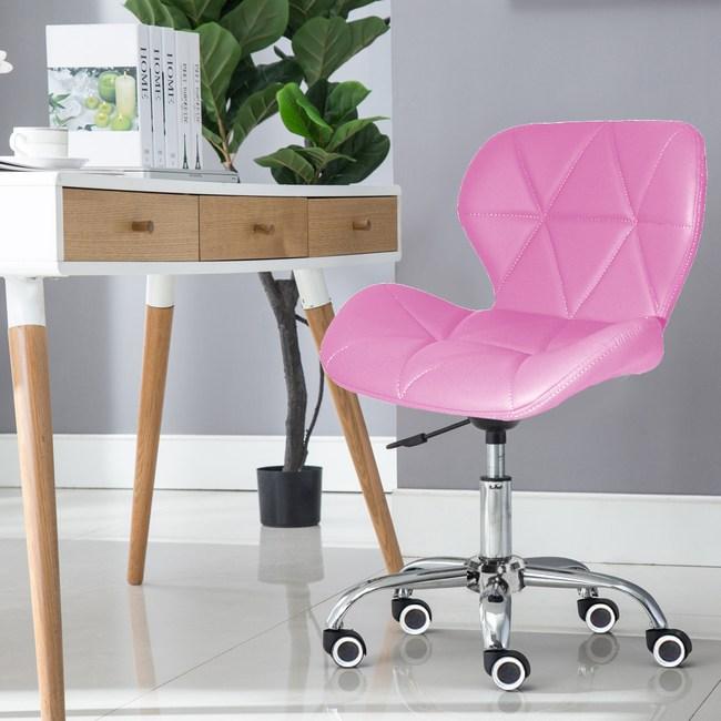 E-home Radar雷達軟墊電腦椅 粉紅色粉紅色