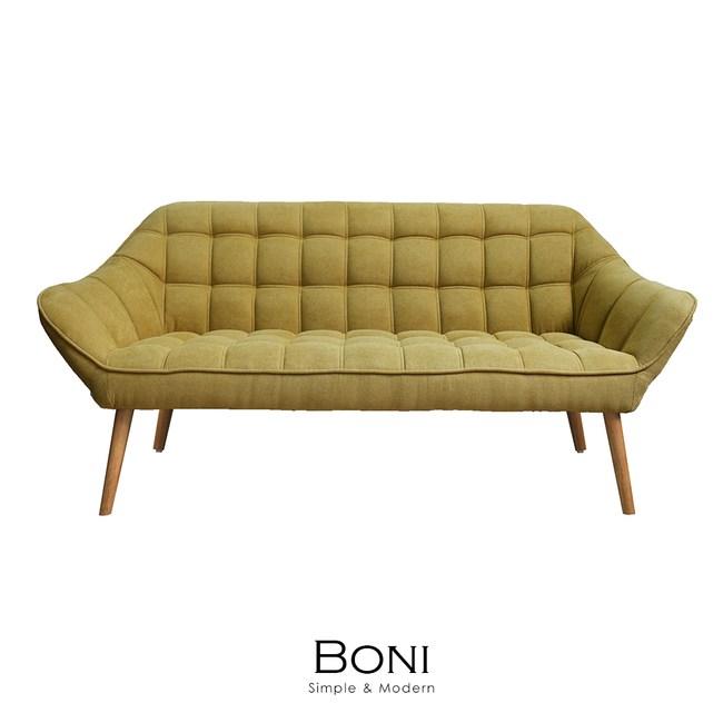 【obis】Boni博尼三人沙發(三色)芥黃色