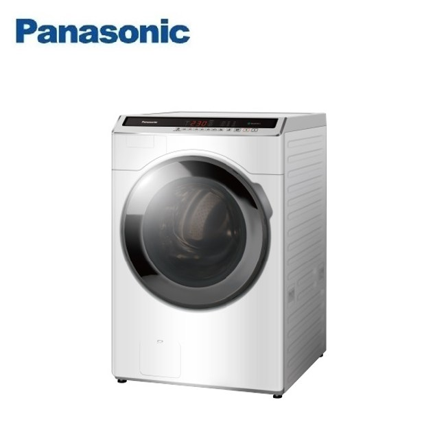 (含基本安裝)Panasonic國際18公斤洗脫滾筒洗衣機NA-V180HW-W
