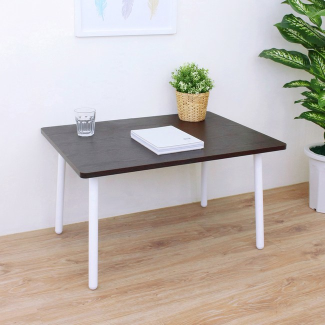 【頂堅】中型和室桌/矮腳桌/餐桌-寬80x深60x高46公分-二色可選深胡桃木色