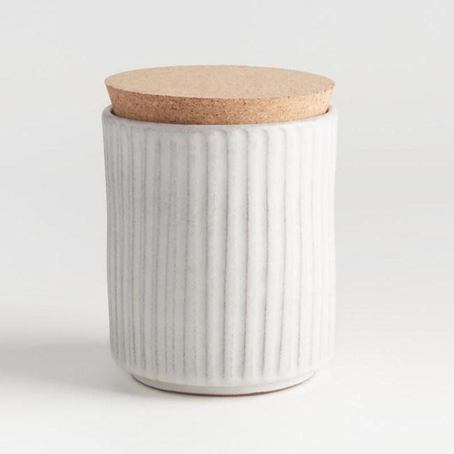 Crate&Barrel Lilou 儲物罐 (L) 白