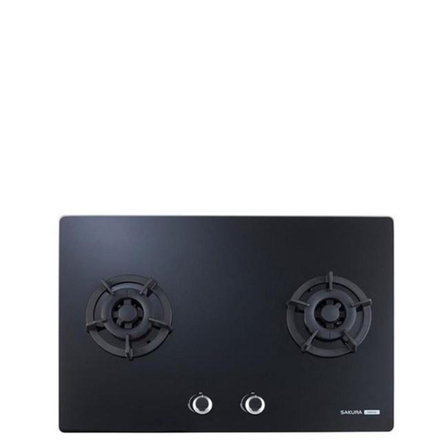 無安裝-櫻花雙口檯面爐黑色瓦斯爐桶裝瓦斯G-2623GBL-X