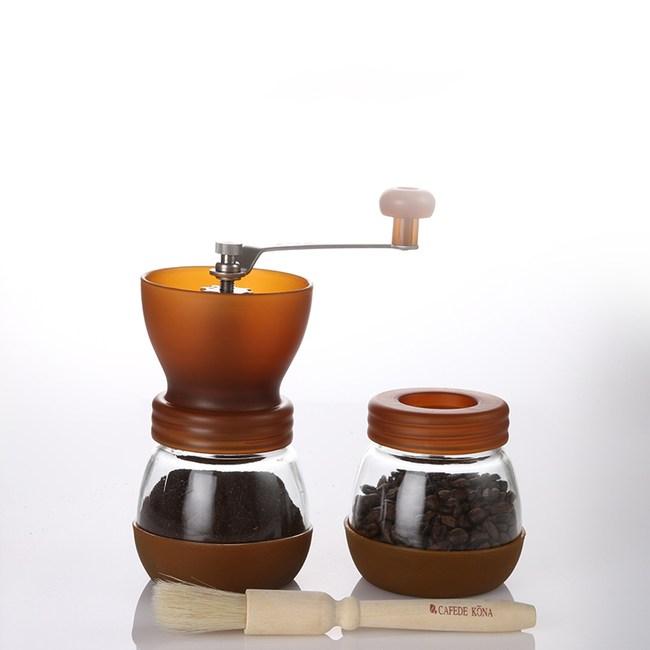 陶瓷磨豆機組合-咖啡色