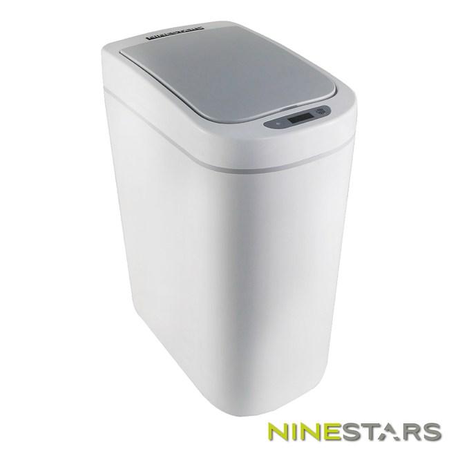 美國NINESTARS防潑水感應垃圾桶7L DZT-7-2S