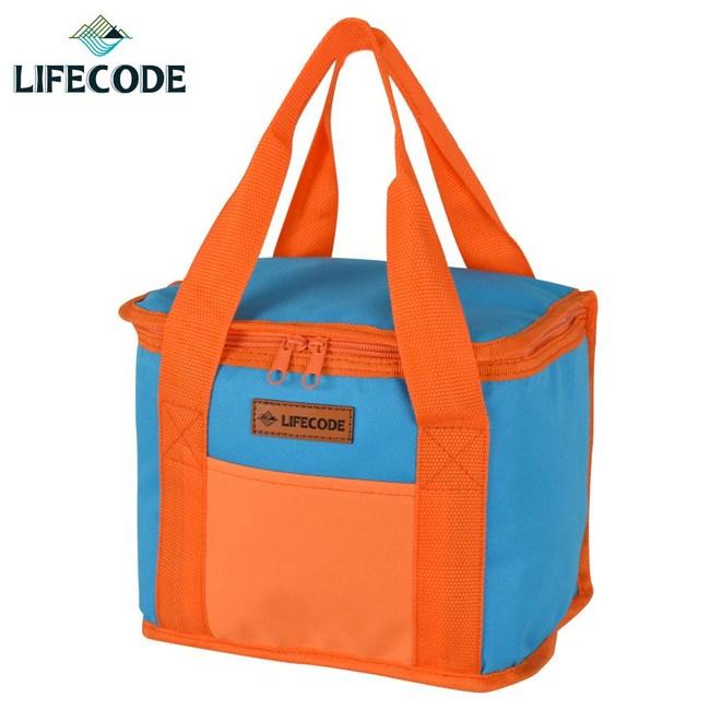 【LIFECODE】飯盒子保冰袋/便當袋-藍桔
