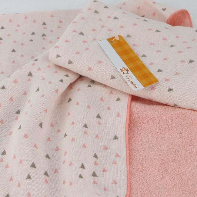 和風紗布小三角毛巾 粉 34x76cm