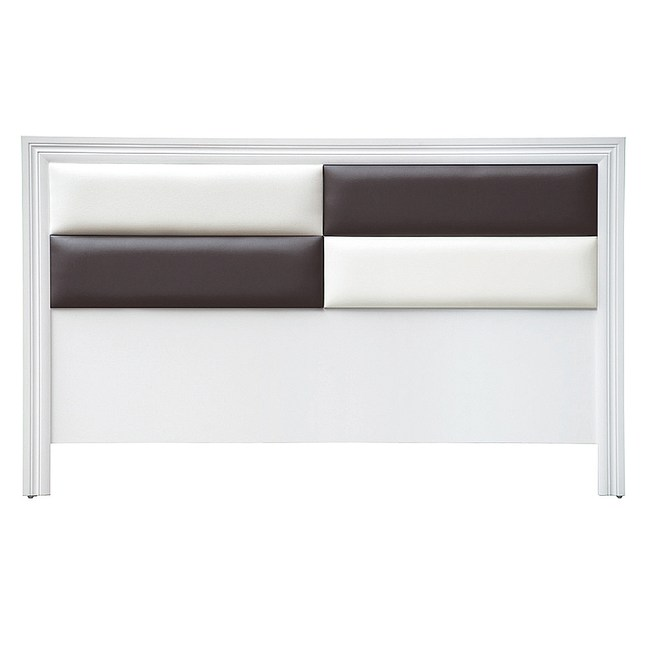 【YFS】歐格登5尺白色床頭片-154x2x93cm