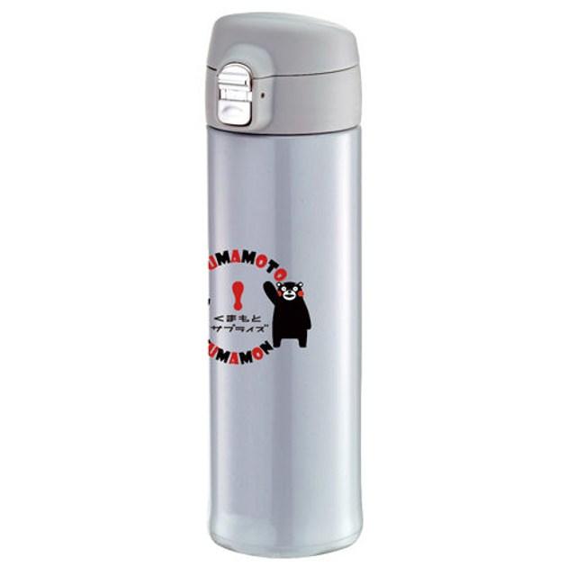 KUMAMON 酷Ma萌304不鏽鋼超輕量彈蓋520ml保溫瓶