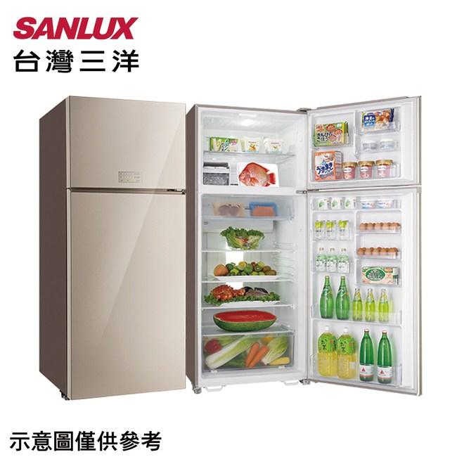 【SANLUX三洋】533L變頻玻璃雙門冰箱SR-C533BVG