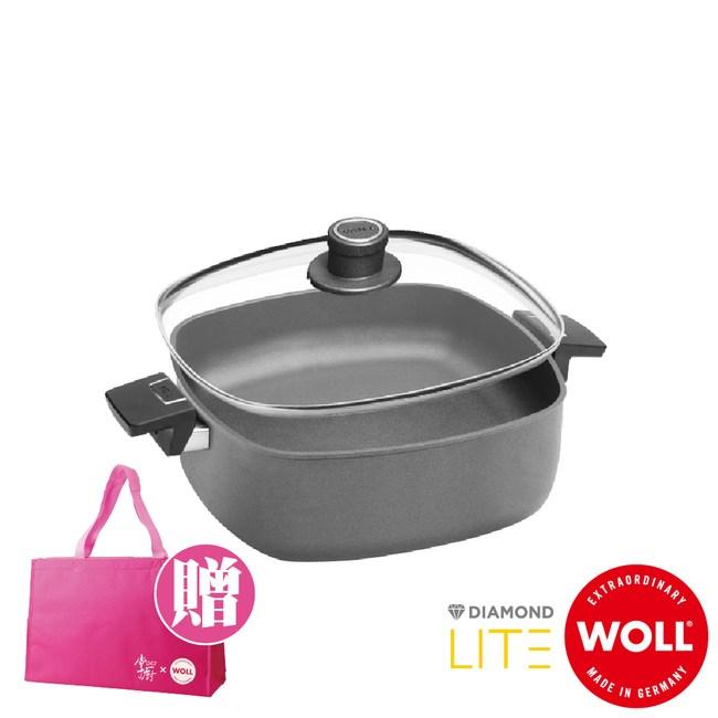 《WOLL》德國歐爾-新鑽石 26cm鑄造不沾深方型鍋