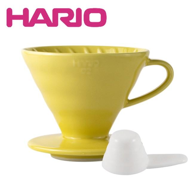 【HARIO】V60 1~4人份 02彩虹磁石濾杯(檸檬黃)單一規格