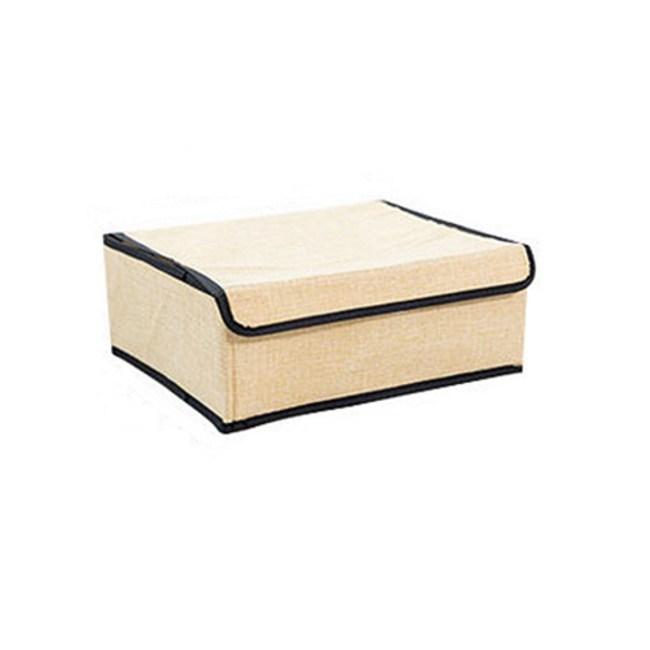 內衣布質收納盒-13格(米黃)