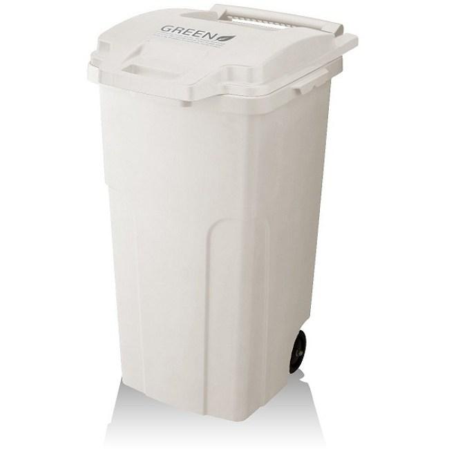 【日本RISU】機能型戶外式大容量連結垃圾桶 90L - 白色