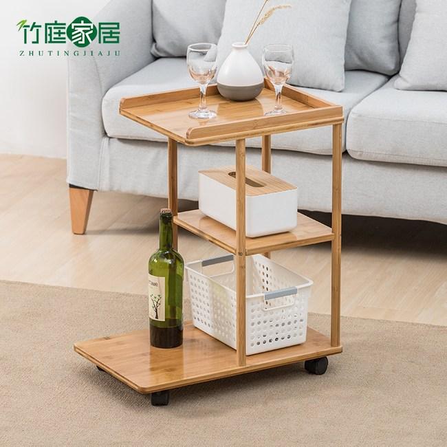 竹藝竹製移動式收納車