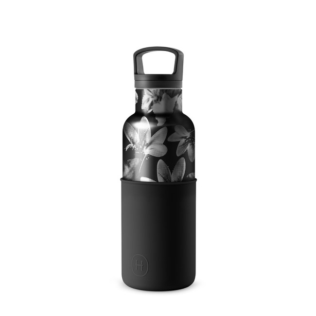 【HYDY】時尚保溫瓶 油墨黑-黑花瓶 (480ml)