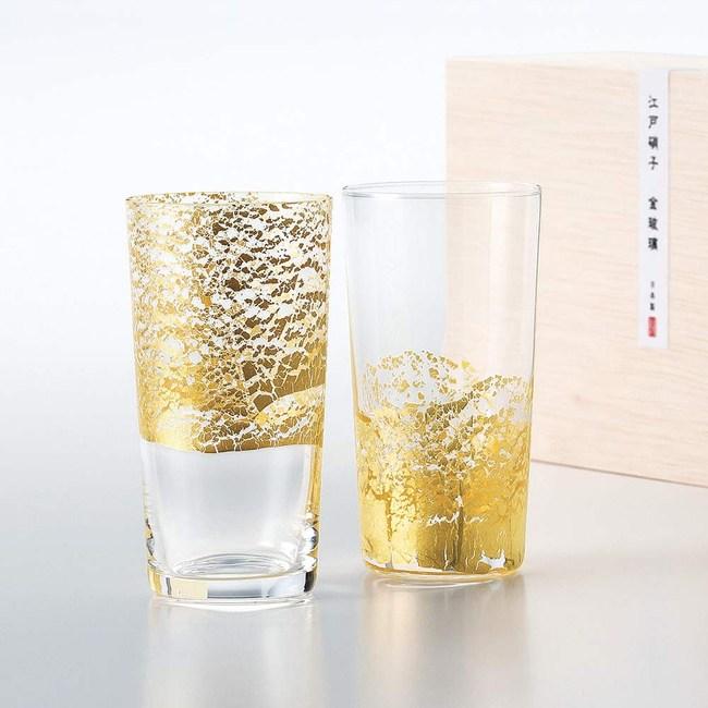 日本TOYO-SASAKI 江戶金玻璃 手作冷酒杯組 130ml