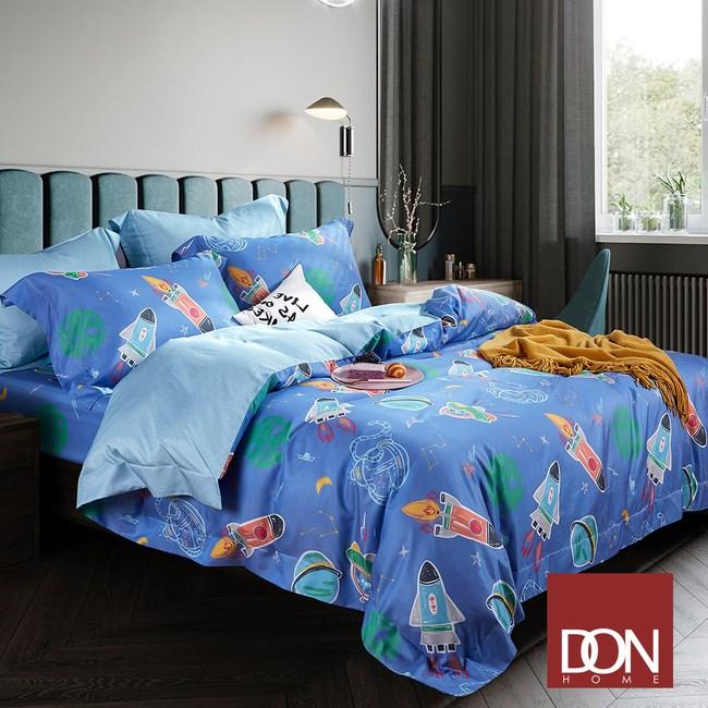 【DON星際探險】雙人四件式吸濕排汗天絲兩用被床包組