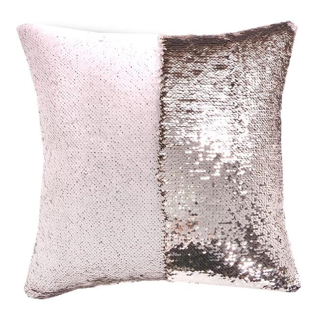 魔術DIY雙色亮片方型抱枕.靠枕_香檳米