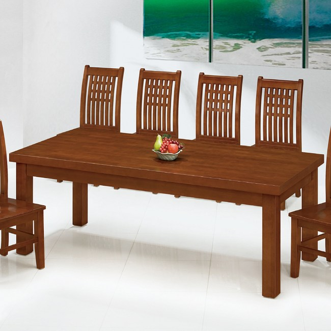 【YFS】艾布納全實木7尺餐桌-212x91x77cm
